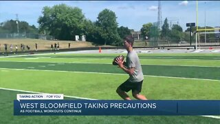 West Bloomfield taking precautions as football workouts continue
