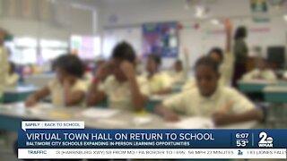 Virtual town hall on return to school