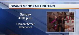 Grand Menorah Lighting on Fremont Street