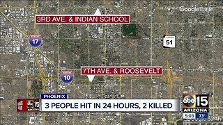 Pedestrian killed after being struck by multiple vehicles near 3rd Avenue/Indian School