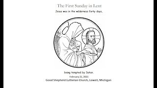 First Sunday in Lent, 2/21/2021