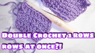 How to Crochet 3 Rows of Double Crochet at Once