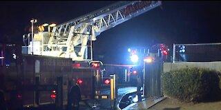 Las Vegas firefighters battle 2-alarm fire at auto repair shop