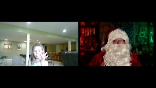 Santa Zooms Hello - Hope