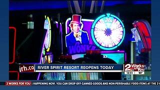 River Spirit Casino Resort reopens today