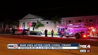 Cape Coral crash man dies