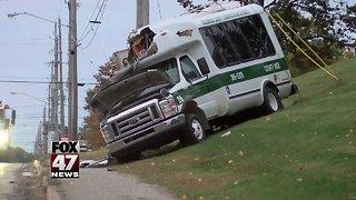 Kids on board transit bus in crash