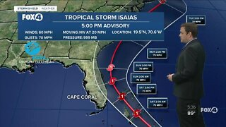 Tropical Storm Isaias could become a hurricane this weekend