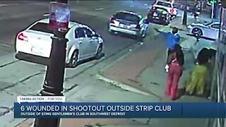 6 wounded in shootout outside of Detroit strip club