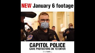 NEW January 6 Footage Shows U.S. Capitol Police Gave Protesters OK to Enter
