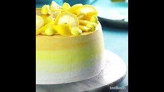 Pastry Cake with Mango Cream