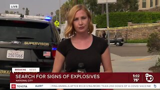 Bomb and hazmat investigation happening in National City