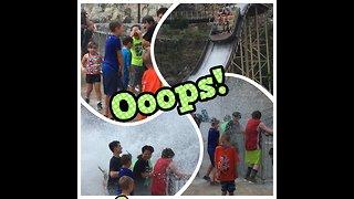Kids drowned by white water rapids ride splash back