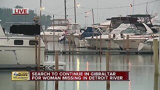 Crews to continue search for woman missing in Detroit River