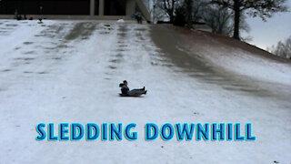 Sledding Downhill