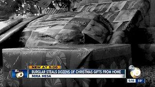 Burglar steals dozens of christmas gifts from mira mesa home
