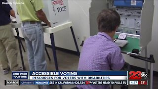 Accessible voting for voters with disabilities