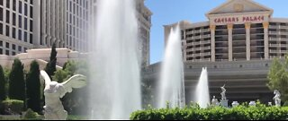 Fountains turned back on at Caesars Palace