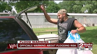 Officials warning about flooding risk