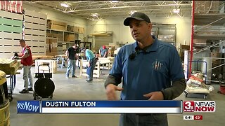 Building beds for flood victims