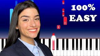 Dixie D'Amelio - Be Happy (100% Easy Piano Tutorial)