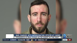Man charged with impersonating officer at casino