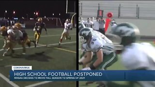 Michigan High School Athletic Association moves football to spring due to COVID-19
