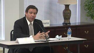 ROUNDTABLE DISCUSSION: Gov. Ron DeSantis speaks about visits to long-term care facilities