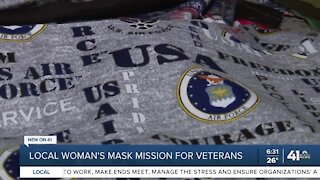 Local woman's mask mission for veterans