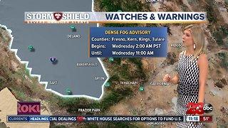Valley Dense Fog Advisory Wednesday morning