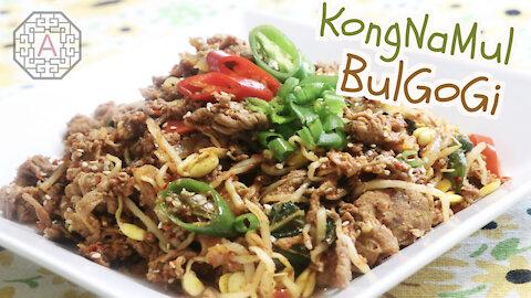 Korean Spicy Soybean Sprout Bulgogi (콩불고기, KongBulGoGi) | Aeri's Kitchen