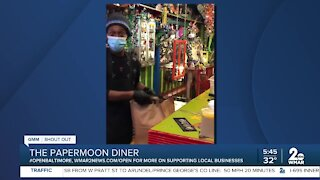 """The Papermoon Diner says """"We're Open Baltimore!"""""""