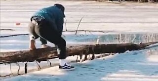 Never tread on thin ice!