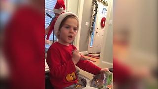 """Boy Gets Birthday Present on Christmas"""