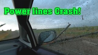 My Scariest Storm Chase yet | Power lines Crash & Flash | Caught on Camera!