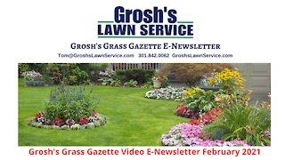 Grosh's Grass Gazette February 2021 Video E Newsletter