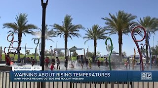 Warning about rising temperatures around the Valley