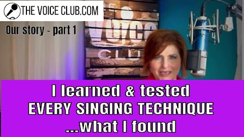 PT 1: I studied and compared every singing technique: the results for a professional singer