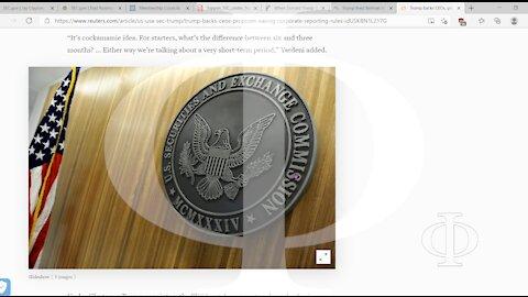 E alla SEC... che sta succedendo? Il presidente???