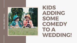 Kids adding some comedy to a wedding!