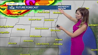 Partly sunny Wednesday, chances of severe nighttime thunderstorms