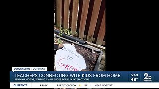 Teachers connecting with kids from home