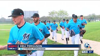 First Spring Training workout for Marlins