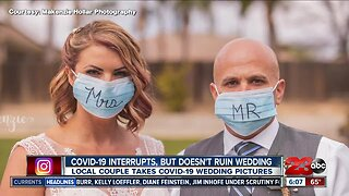 Couple doesn't let COVID-19 outbreak ruin their wedding