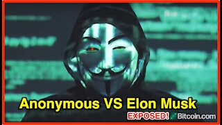Anonymous verse Elon Musk after cryptic crypto tweets and BITCOIN CRASH!