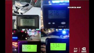 Nevada Highway Patrol arrests several drunk drivers