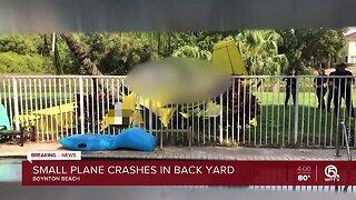 1 dead after small plane crashes in Boynton Beach backyard