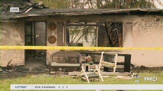 Fire destroys North Fort Myers home