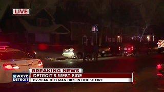82-year-old man dies in fire on Detroit's west side