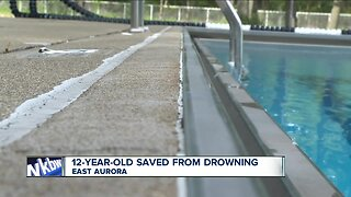 East Aurora student saved from drowning